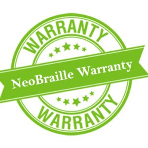 NeoBraille warranty logo