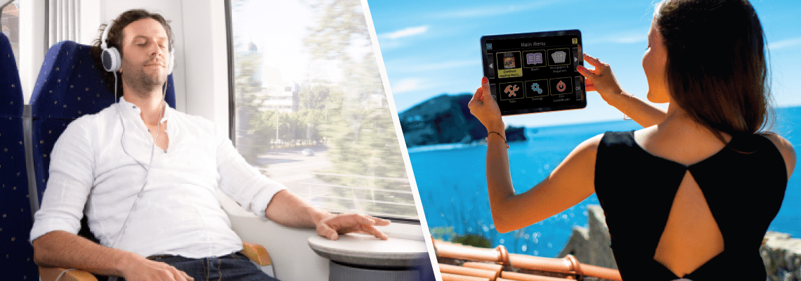 Take GuideReader tablet with you wherever you go.